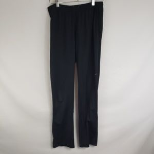 NIKE Black Slick Zippered Ankle Pants